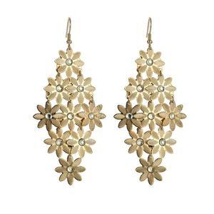 3/$20 New Gold Flower Statement Earrings